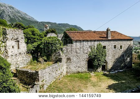 3 june 2015.Bar.Fortress in the old town of Bar in Montenegro on a sunny summer day.Montenegro
