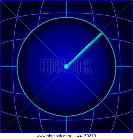 Design blue search radar. eps10 vector illustration