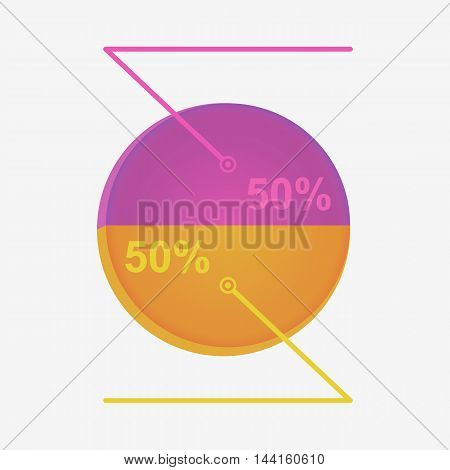 Infographics with interest. Presentation percentage . eps10 vector illustration