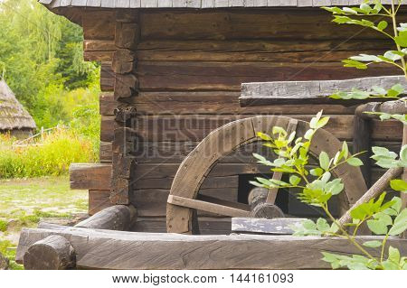 Detail of Old Water Mill in Rural Area