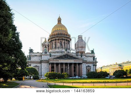 Restoration Of St. Isaac's Cathedral In St. Petersburg.