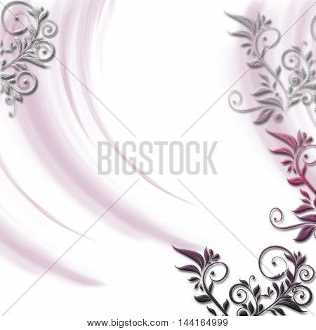 Romantic flower invitation, greeting card. Wedding and Pastel Background...