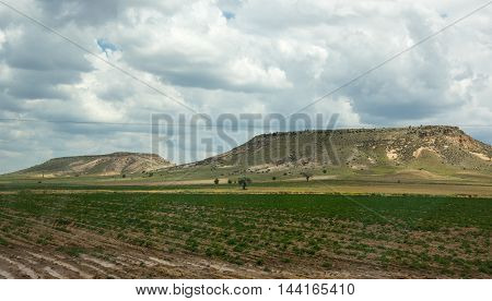Rural landscape in Cappadocia Central Anatolia Turkey