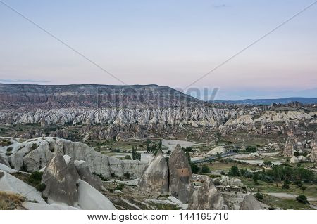 Valley near Goreme in Cappadocia Central AnatoliaTurkey
