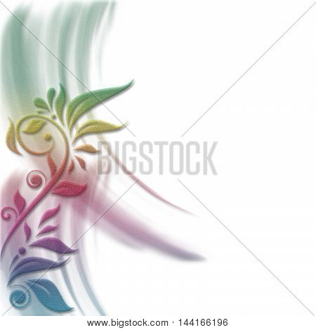 Romantic flower invitation, background, greeting card...with copy space...