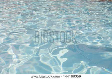 Water top view texture background. Blue water
