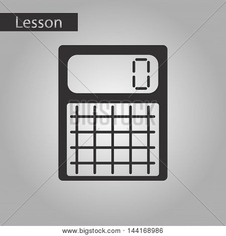 black and white style icon electronic calculator