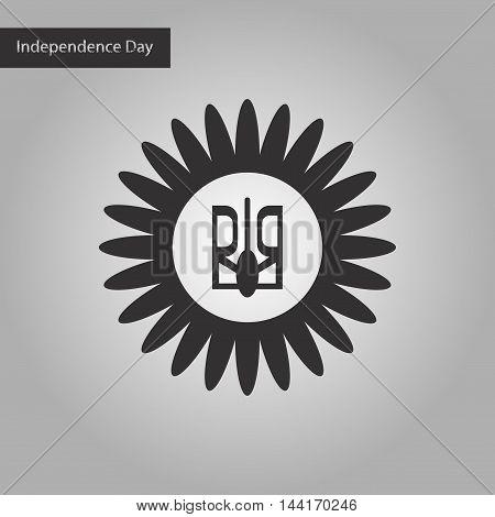 black and white style icon emblem of Ukraine