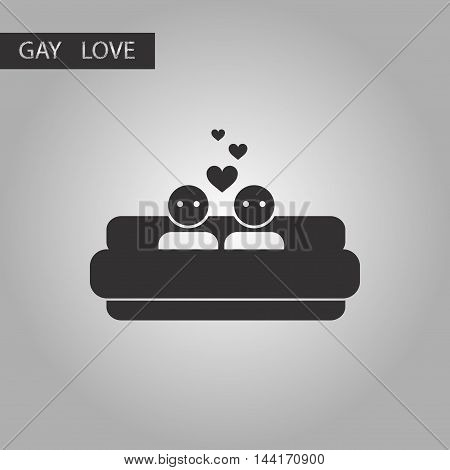black and white style icon gays bed