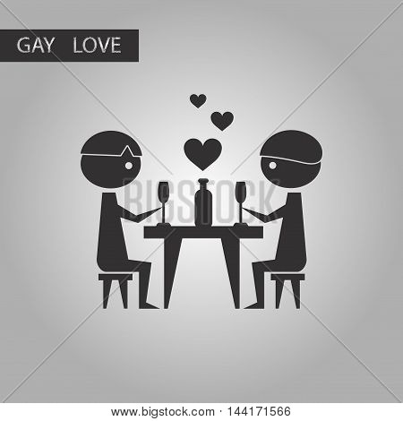 black and white style icon gays romantic dinner