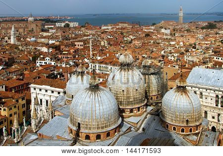 Italy. Venice, architecture kind from height of the bird's flight