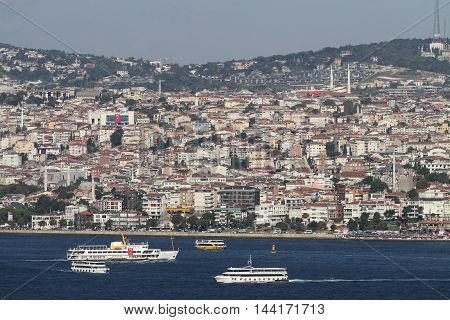 Uskudar District In Istanbul City