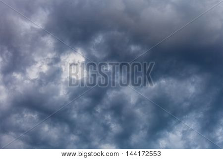 Dark ominous clouds dramatic sky overcast abstract background