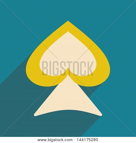 Flat with shadow icon and mobile application suit peak