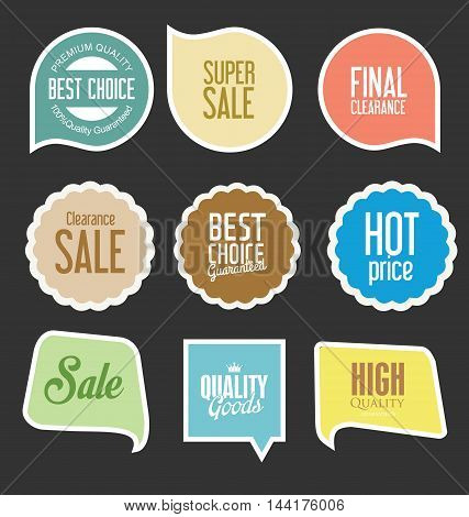 Modern Sale Stickers And Tags Collection Vector 5.eps