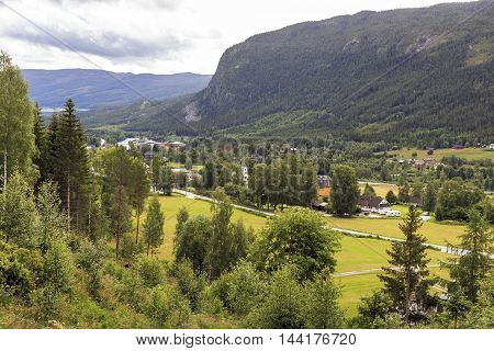 This is morning in the upland area of the province of Buskerud in Norway.
