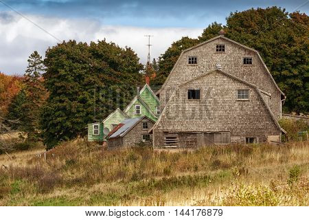 Old weathered barn in rural America.