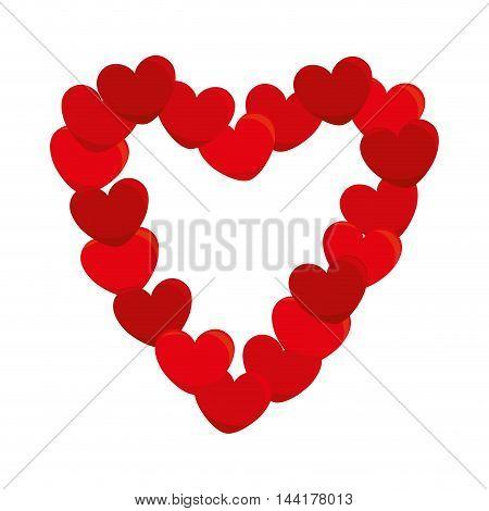 heart love romantic border passion symbol icon design vector illustration