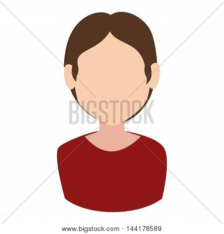 male profile avatar head face hair vector illustration
