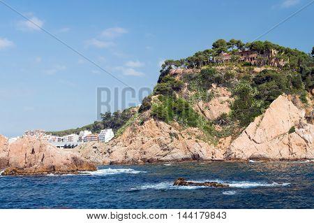 Costa Brava Landscape Bank Of Sea