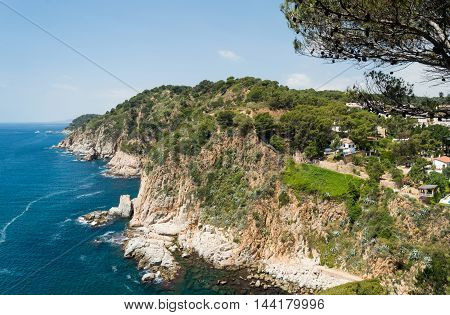 Costa Brava Landscape Near Tossa De Mar In Spain