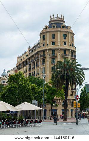 House Corner In Barcelona, Spain
