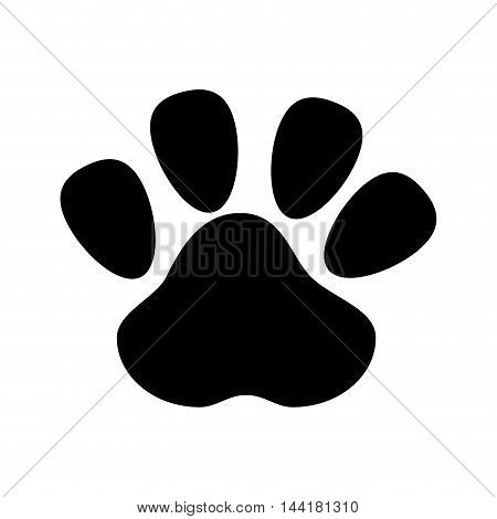 dog foot footprint mark pet canine silhouette vector illustration
