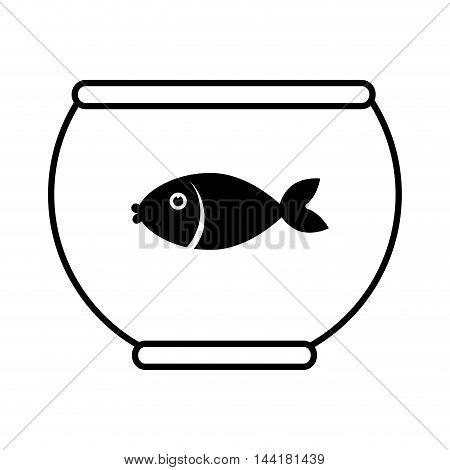 fish bowl water animal pet mascot vector illustration