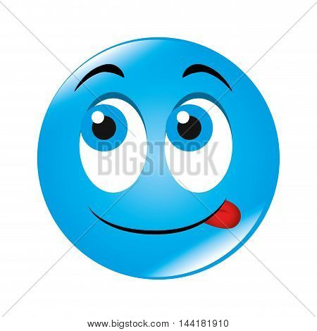 emoticon face cartoon expression of feelings and emotions happiness smile vector illustration