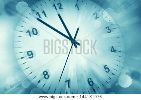 Clock face and abstract background