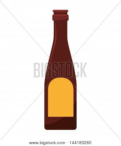 wine alcohol liquor drink bottle beverage winery vector illustration
