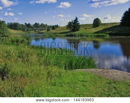 River Aura (Finnish Aurajoki) in Aura, Finland