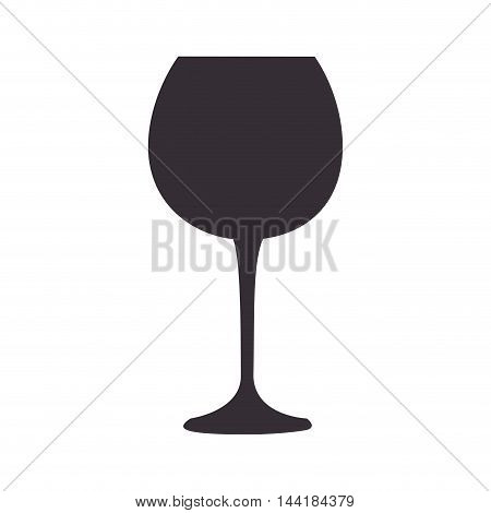 wine glass beverage liquor alcohol liquid drink vector illustration