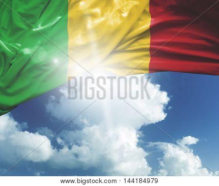Mali flag on a beautiful day