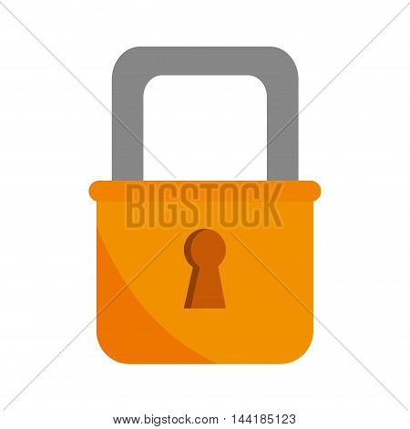 security lock safety system protection keyhole vector illustration