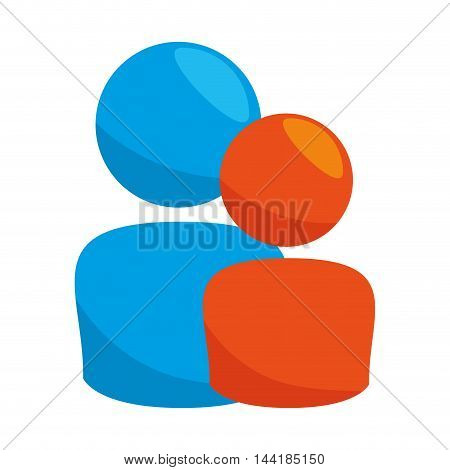 social user public member people persons vector illustration