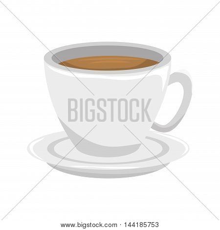 cup of coffee beverage drink liquid mug vector illustration