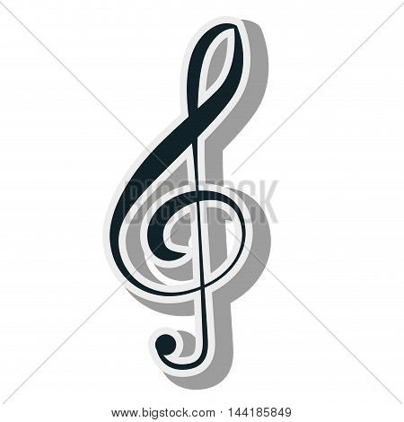 G clef sign composition elements musical vector illustration