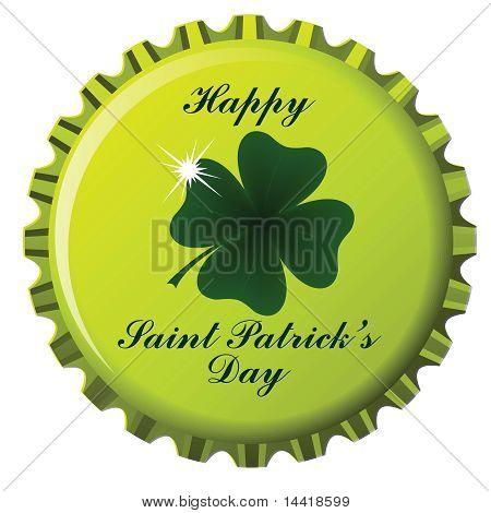 Happy Saint Patrick Bottle Cap