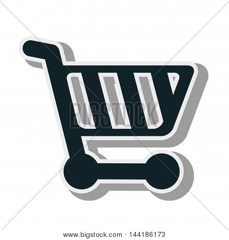 shopping cart supermarket market carrying store vector illustration