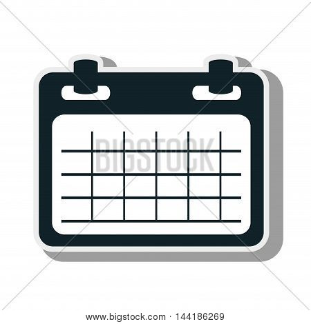 calendar planner template schedule of week vector illustration