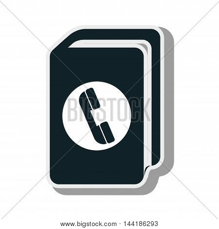 telephone directory book contacts book phone vector illustration