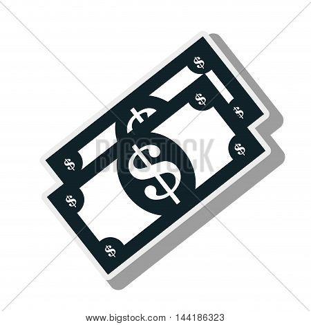money bills sign cash bank finance item vector illustration