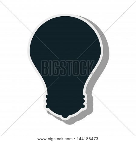 bulb power energy light bright electricity silhouette vector illustration