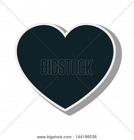 heart love romance passion symbol silhouette vector illustration
