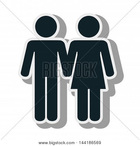 man and woman romance couple relationship  vector illustration