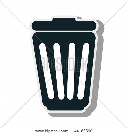delete or trash can element ecology enviromental sign vector illustration