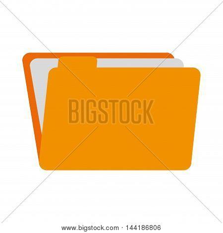 folder binder files and documents data storage vector illustration