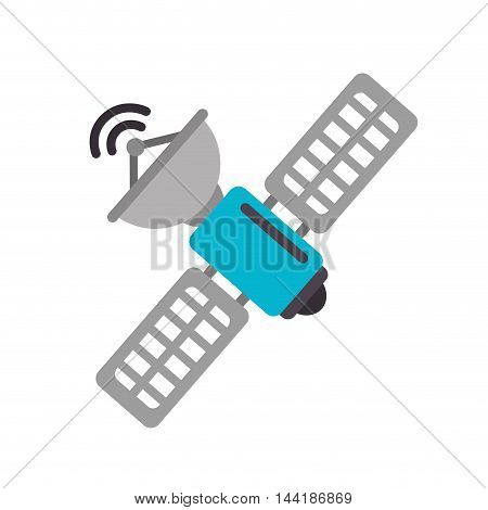satellite antenna waves communication digital technology object vector illustration