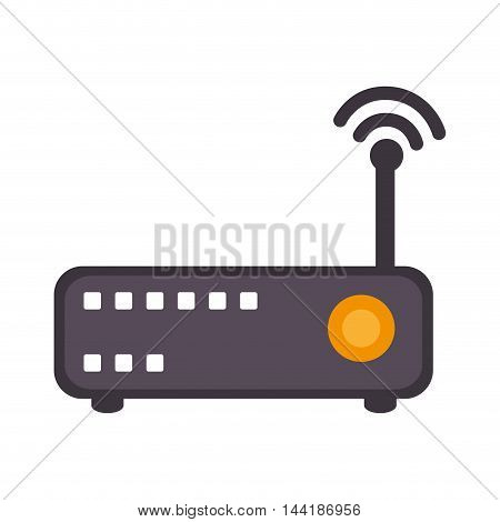 wifi router technology and electronic device vector illustration